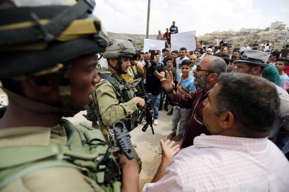 Palestinski protest u Hebronu