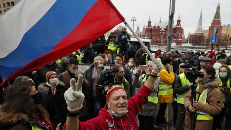 Protest w obronie Aleksieja Nawalnego