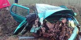 Tragiczny wypadek pod Bytowem. To zostało z samochodu!