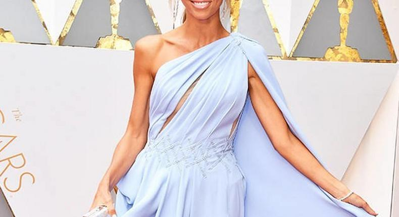 Giuliana Rancic in Georges Chakra for Oscars 2017