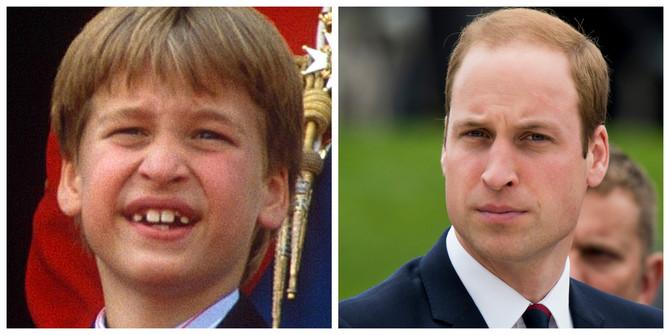Princ Vilijam kao dečak i danas