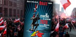 Plakat Marszu Niepodległości wywołał burzę w sieci. Na grafice m.in. błąd