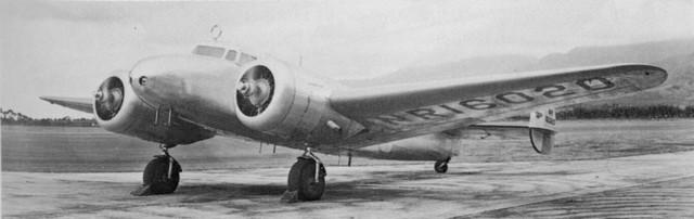 Amelija Erhart, avion