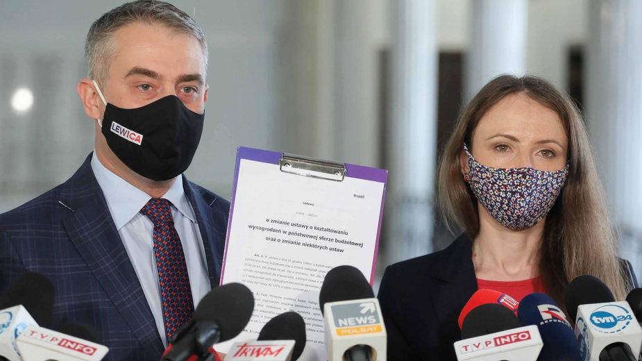 Krzysztof Gawkowski i Agnieszka Dziemianowicz-Bąk