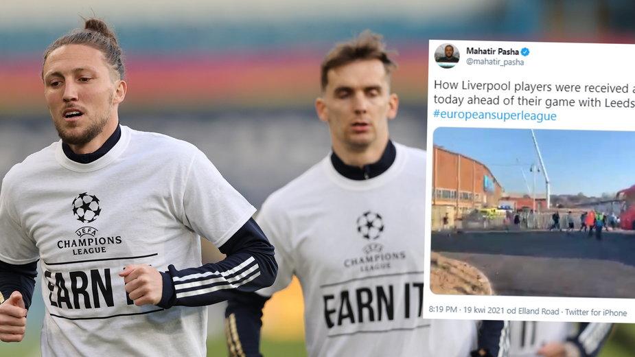 Piłkarze Leeds w specjalnych koszulkach uderzają w Liverpool