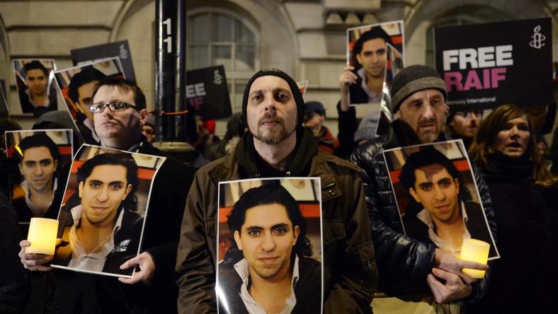 Protest domagających się uwolnienia Raifa Badawi