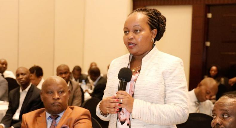 Kirinyaga Governor Anne Waiguru during a past public forum (Twitter)