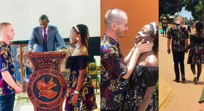 Couple trek home after a simple COVID-19 wedding, pastor arrives  on a bicycle (photos)