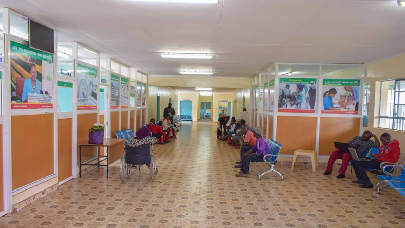 Photo of the Kerugoya County Referral Hospital after clean-up