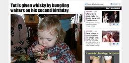 Dwulatek pił whisky! Obchodził urodziny