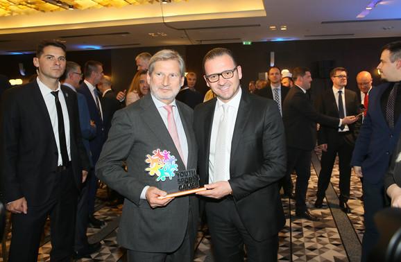Predrag Mijatović u društvu Johanesa Hana, ambasadora Sportskih igara mladih, čiji je