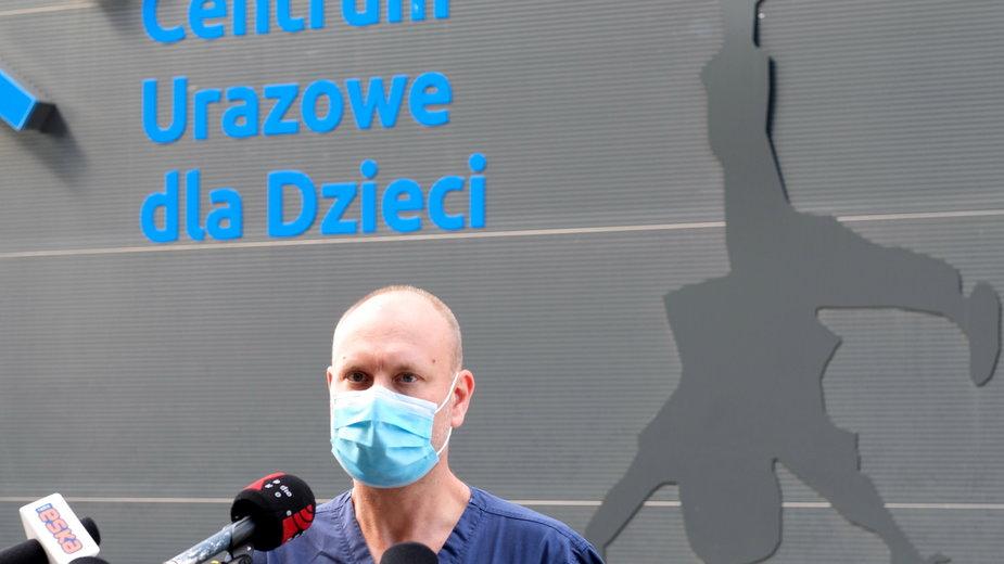 Koordynator Centrum Urazowego dla Dzieci dr Andrzej Bulandra