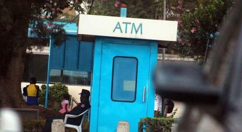 File image of a Barclays Bank ATM. DCI arrests 4 who tried to break Barclays Bank ATM in Ruiru