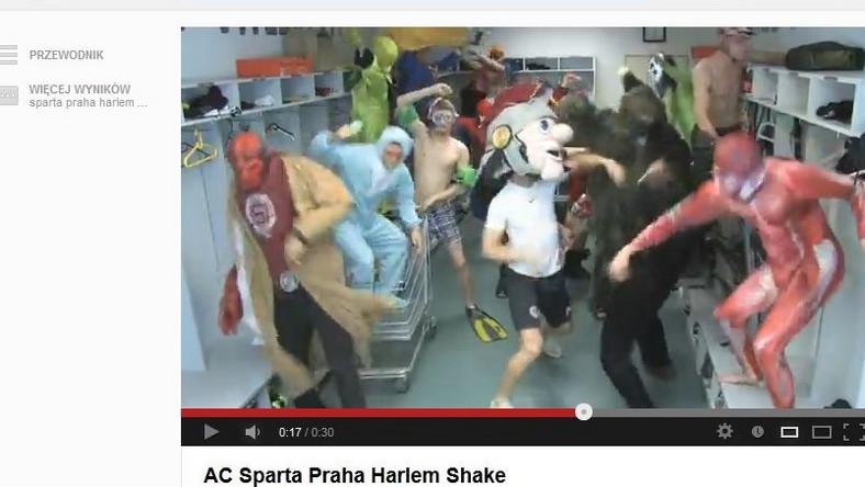 Piłkarze Sparty Praga bawią się przy Harlem Shake
