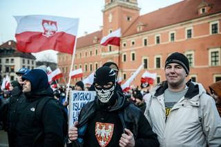 Warszawa: Demonstracja 'Przeciw islamizacji Europy'.  Wzięło w niej udział 1,5 tysiąca osób