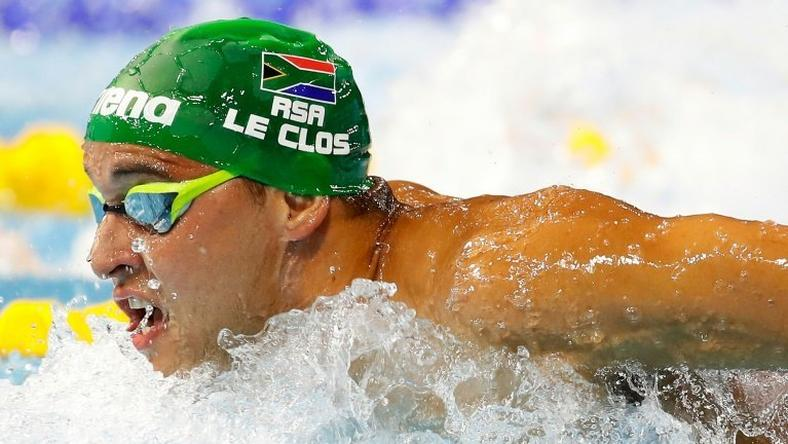Chad Le Clos of South Africa competes in the 200M Butterfly final on day one of the 13th FINA World Swimming Championships (25m) at the WFCU Centre on December 6, 2016 in Windsor Ontario, Canada