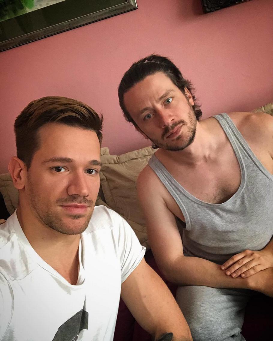 Radomir Novaković sa bratom Zoranom