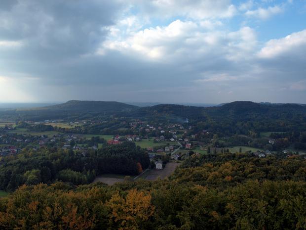 Zamek Lipowiec, widok z wieży