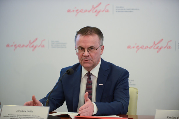 Wiceminister kultury, pełnomocnik rządu ds. Obchodów Stulecia Odzyskania Niepodległości Jarosław Sellin