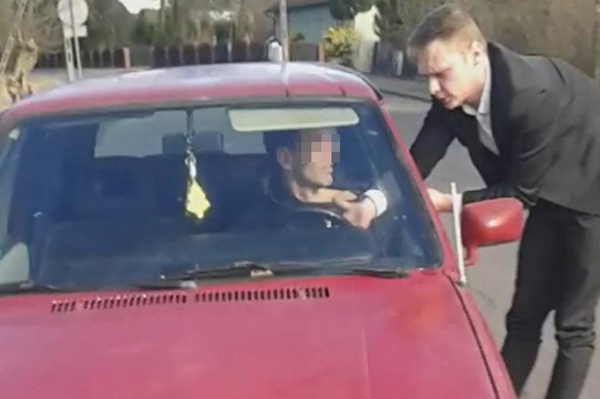 Pan Łukasz zatrzymał pijanego kierowcę