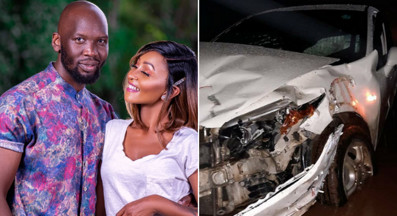 Citizen TV Actress Alma and her hubby involved in grisly accident [Photos]