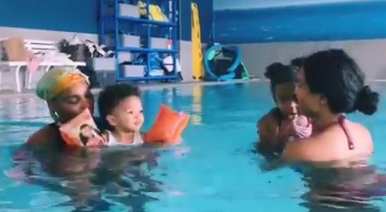 Serena Vilijams i Sijara sa ćerkama