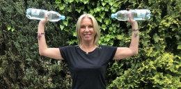 Mariola Bojarska-Ferenc boi się wrócić na siłownię. Poleca ćwiczenia z butelkami