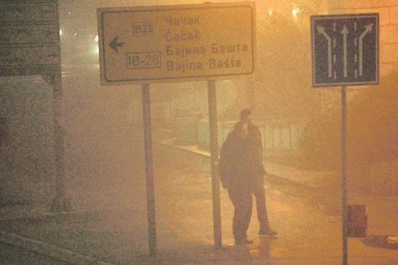 Magla u Užicu je bila tolika da se put jedva razaznavao