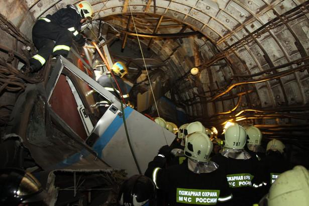 Wypadek w moskiewskim metrze