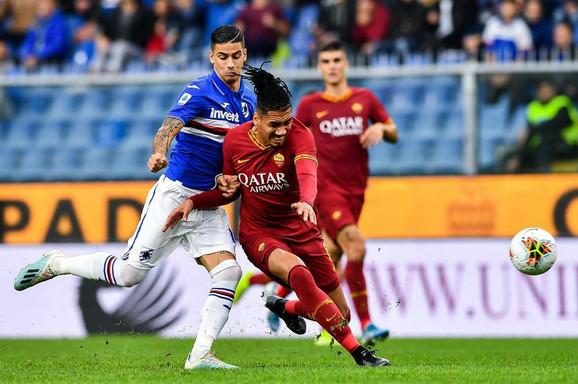 Detalj sa utakmice Roma - Sampdorija