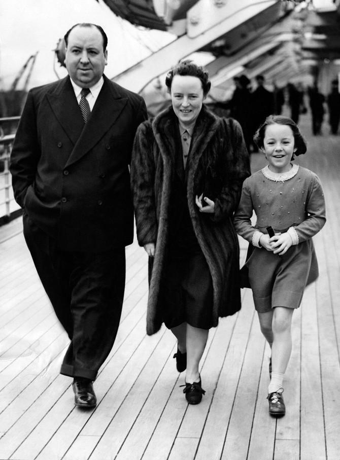 Alfred Hičkok sa suprugom i ćerkom