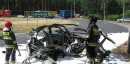 Wybuch! Butla rozwaliła auto!