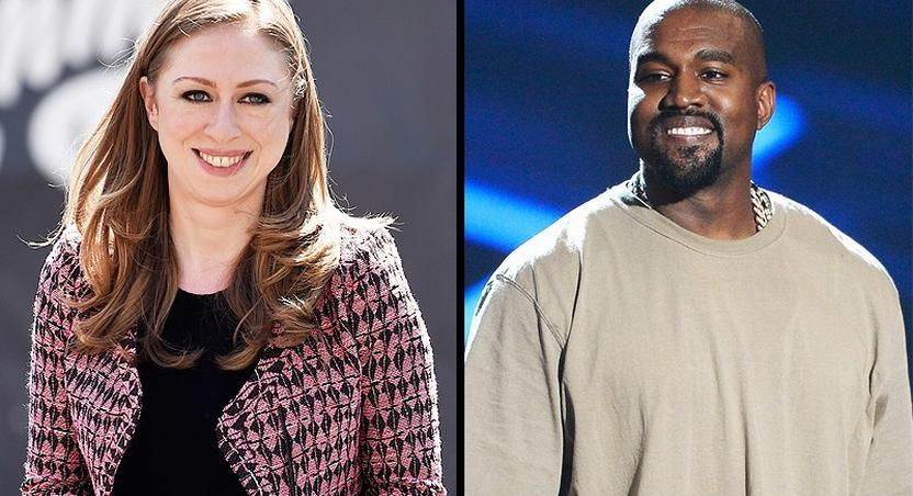 Chelsea Clinton and Kanye West