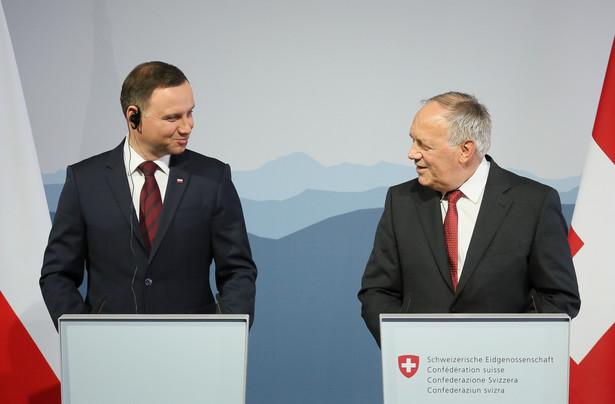 Prezydent Andrzej Duda i Prezydent Szwajcarii Johann Schneider-Ammann