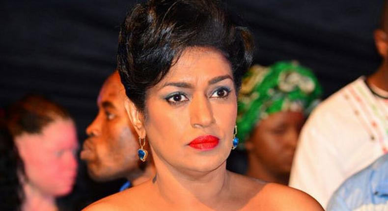 Esther Passaris speaks after Millicent Omanga was ejected from the podium during a burial in Kisii