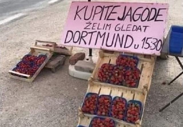 Poruka prodavca jagoda