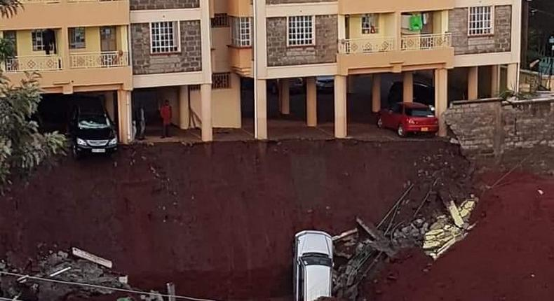 Residents in Ruaka Apartments forced to flee as wall collapses