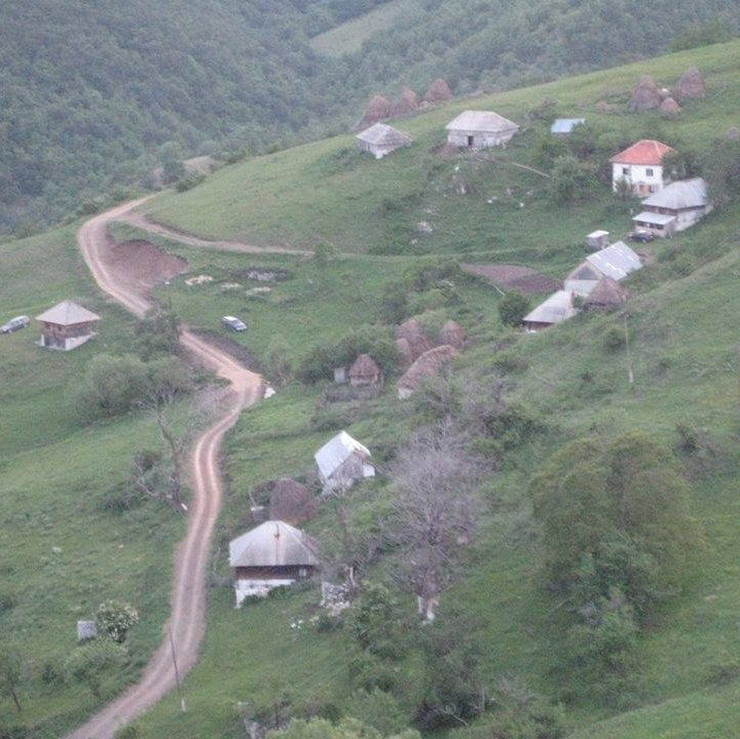 Selo Goševo na obroncima planine Giljeve