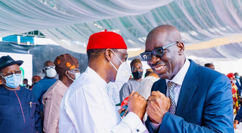 Okowa congratulates Obaseki on his inauguration for 2nd term