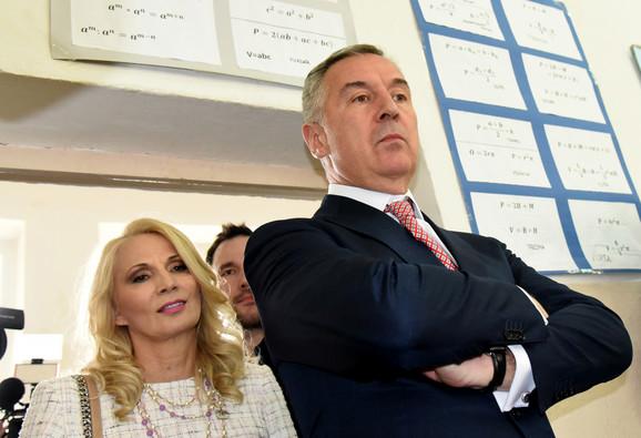 Milo i Lidija Đukanović