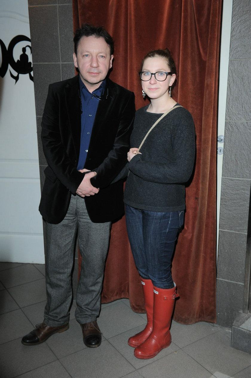 Zbigniew Zamachowski z córką Marysią