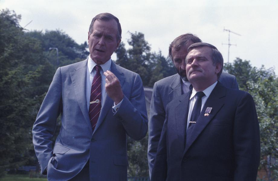 Lech Walesa i George Bush