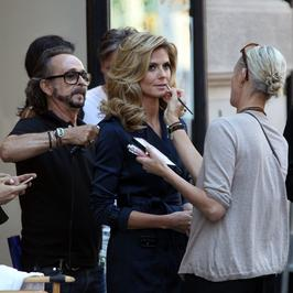 Seksowna Heidi Klum kręci w Nowym Jorku