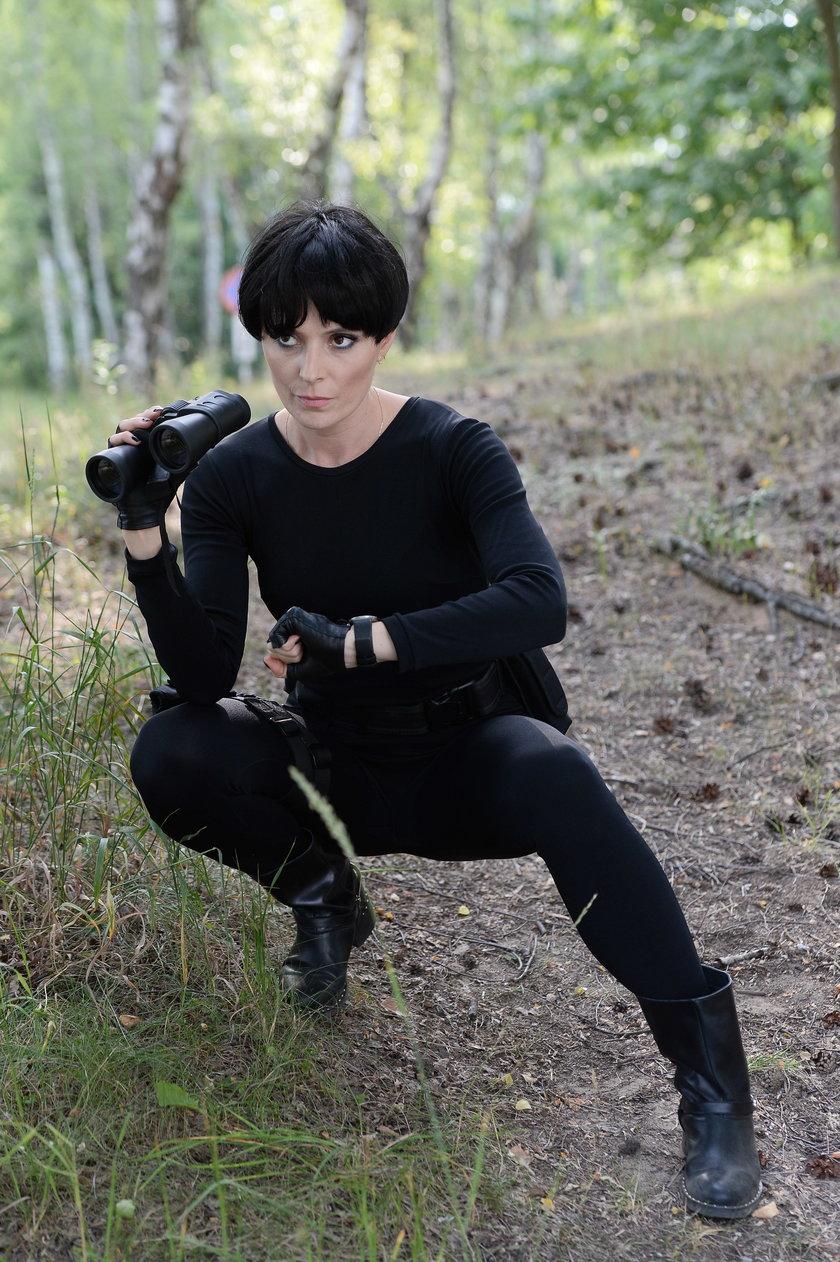 Halina Mlynkova na planie nowego teledysku
