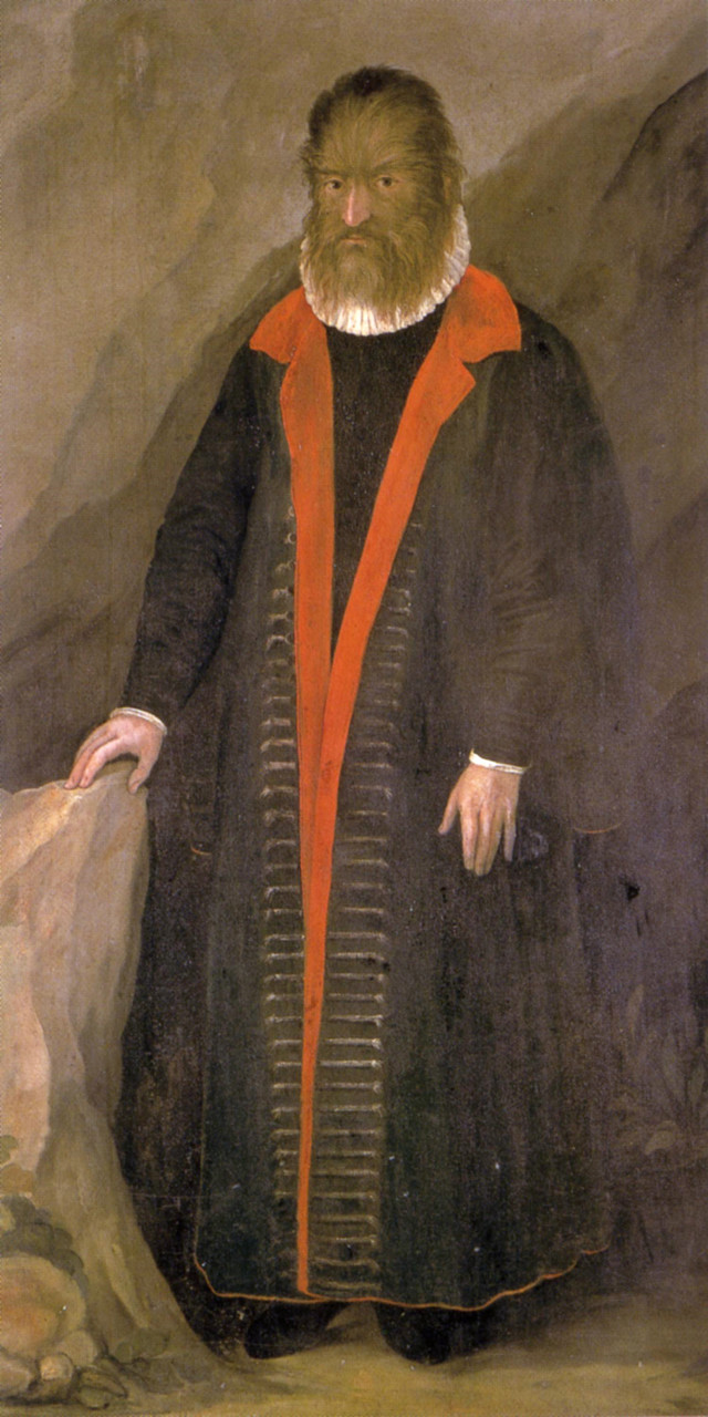 Petrus Gonsalvus oko 1580.
