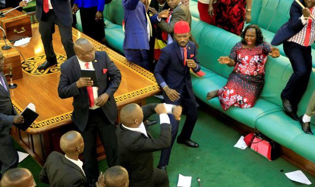 Fist fights in Parliament over amendment of presidential age limit