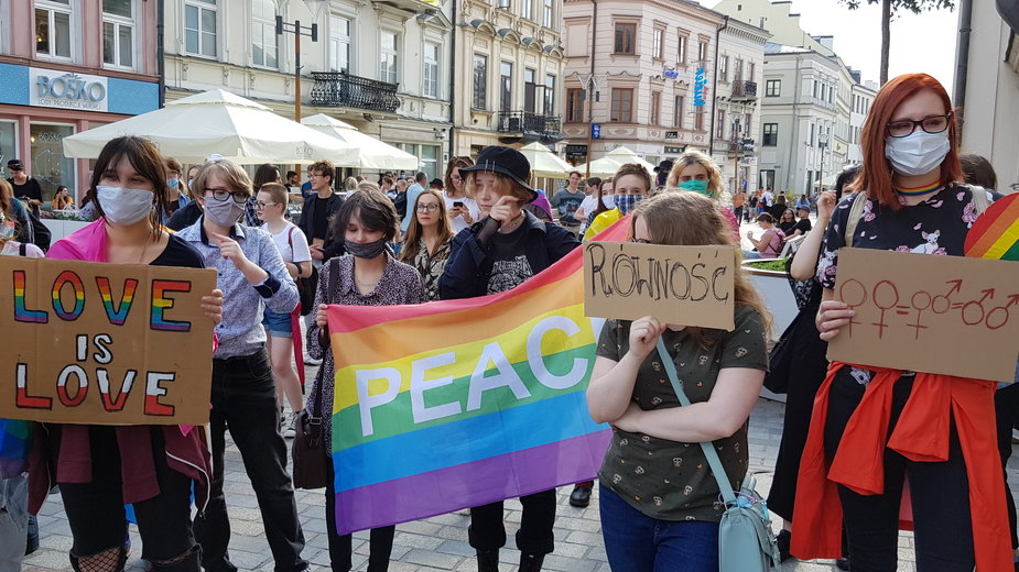 Protest osób LGBT