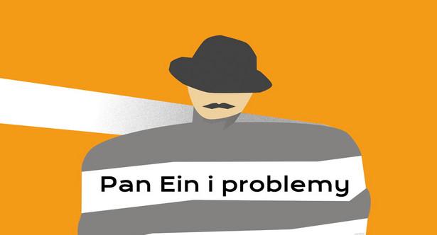 """""""Pan Ein i problemy ochrony przeciwpożarowej"""" w stołecznym Teatrze Współczesnym, projekt plakatu: Monika Tyburska"""