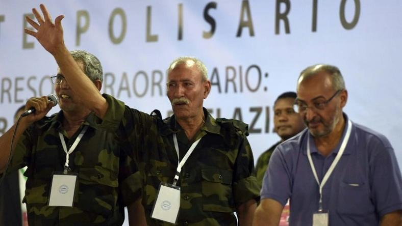 Polisario secretary general Brahim Ghali at the Sahrawi refugee camp in Dakhla, Algeria in July
