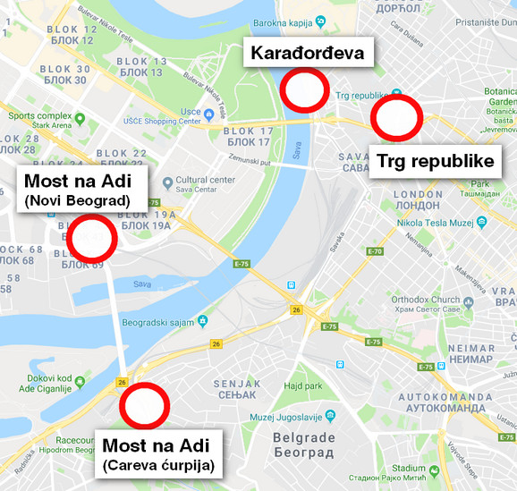 Glavni radovi na mapi